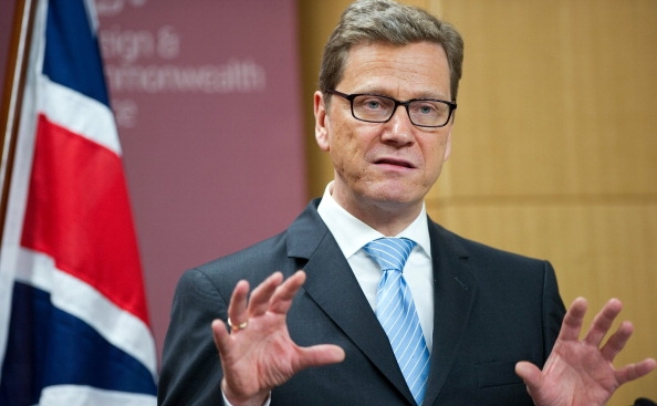 Ministrul german de externe, Guido Westerwelle. (LEON NEAL/AFP/Getty Images)