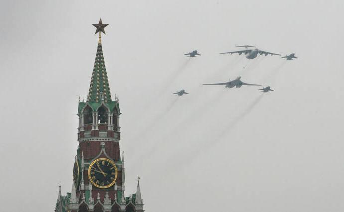 Avioane de luptă în Moscova (Alexey SAZONOV / AFP / Getty Images)