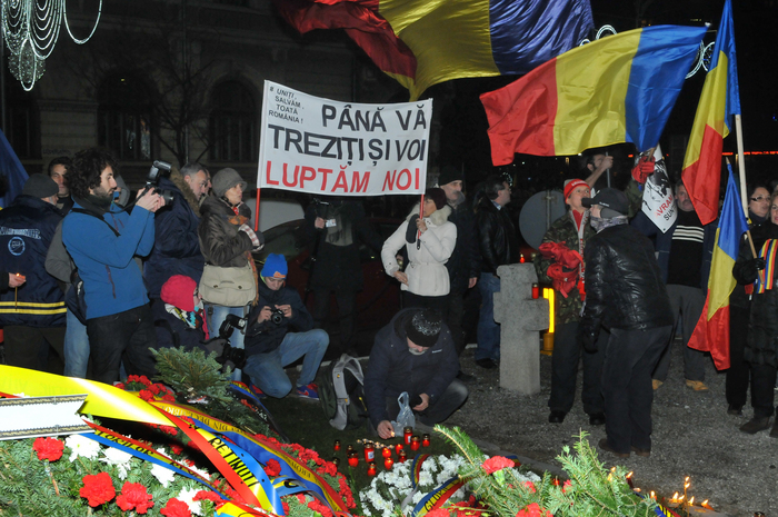 21 Decembrie, comemorare şi proteste în Bucureşti (Florin Eşanu/Epoch Times)