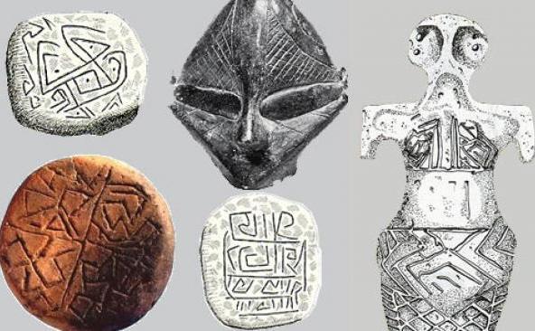 Artefacte aparţinând civilizaţiei de pe valea Dunării. (youtube.com)