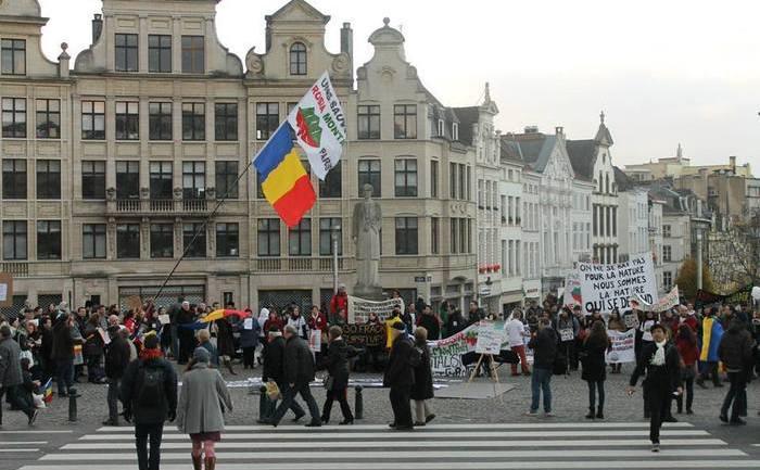 Reuniune a românilor din numeroase oraşe din diaspora la Bruxelles, 1 decembrie 2013. (Mihaela Popescu)