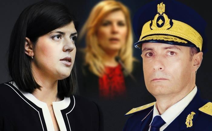 Laura Codruţa Kovesi, Florian Coldea şi pe fundal Elena Udrea (Ioana Florea Nuţ / Epoch Times România)