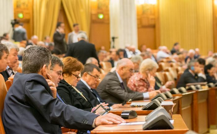 În Parlament, la votarea bugetului pe 2016.