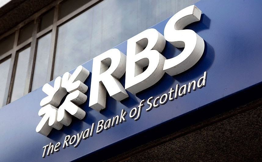 Logo-ul băncii scoţiene  Royal Bank of Scotland.