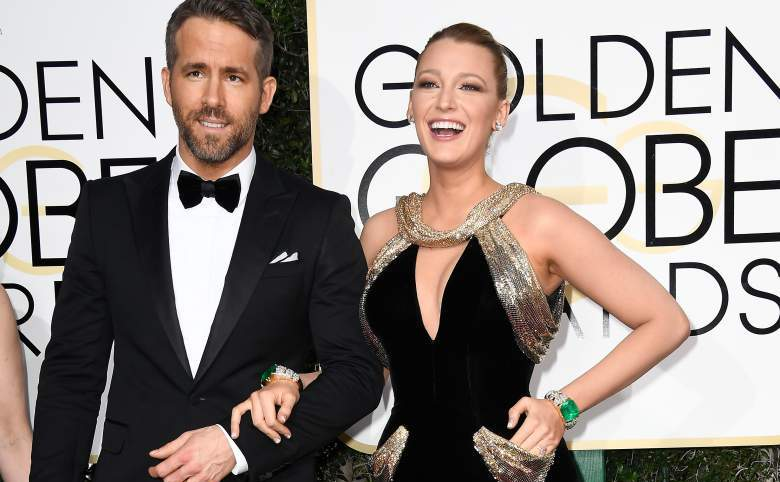 Actorii Ryan Reynolds si Blake Lively la Globul de Aur, 8 ianuarie 2017 Beverly Hills, California