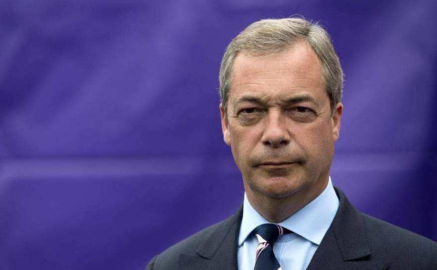Politicianul britanic Nigel Farage